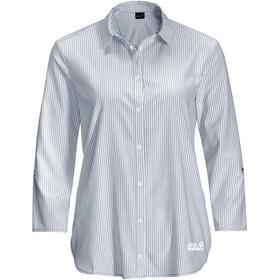 Jack Wolfskin South Port LS-skjorte Damer, blå/hvid